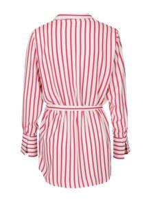 Ružovo-krémová pruhovaná košeľa s opaskom Jacqueline de Yong Fancy