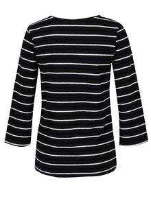 Bluza bleumarin cu dungi si maneci 3/4 - Jacqueline de Yong Charm