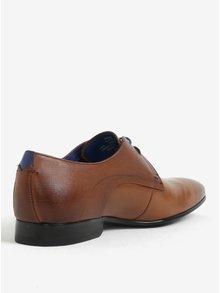 Pantofi maro din piele naturala pentru barbati - Ted Baker Peair
