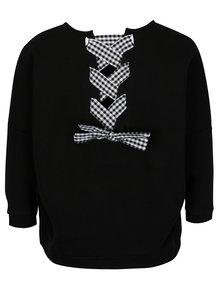 Bluza sport neagra cu panglici incrucisate la spate - ONLY Sophia