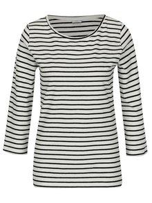Černo-krémové pruhované tričko Jacqueline de Yong Charm