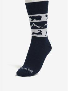 Sivo-modré unisex ponožky s motívom zvierat Fusakle Vysoké Tatry