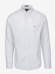 Biela pruhovaná pánska slim košeľa GANT