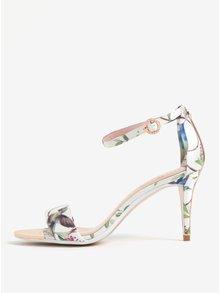 Krémové vzorované sandále na ihličkovom podpätku Ted Baker Mavbe