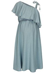 Svetlomodré rifľové tehotenské šaty s volánom Mama.licious Nesli