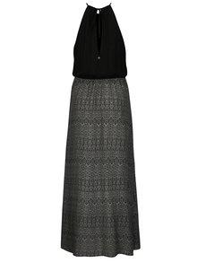 Rochie maxi neagra cu print geometric Rip Curl