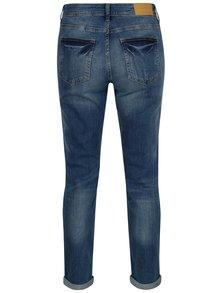 Modré straight džíny s vyšisovaným efektem Noisy May Kim