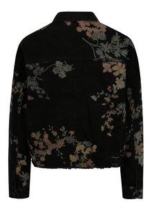 Černá květovaná džínová bunda Noisy May Cho