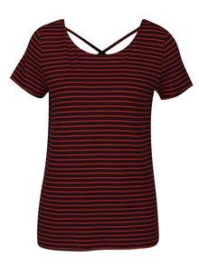 Modro-červené pruhované tričko ONLY Bera