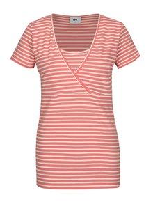 Set de 2 bluze cu decolteu suprapus pentru femei insarcinate - Mama.licious Lea