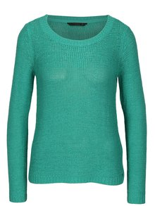Tyrkysový pletený průsvitný svetr ONLY Geena