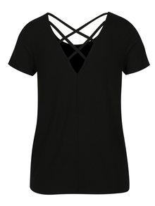 Tricou negru cu snur incrucisat la spate ONLY Bera