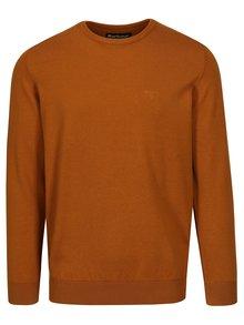 Oranžový sveter s výšivkou Barbour Pima