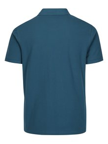 Petrolejové polo tričko s výšivkou Barbour Sports