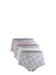 Set de 5 perechi de chiloti multicolori cu talie inalta M&Co