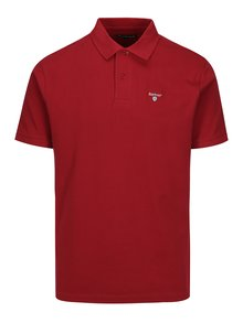 Tricou polo visiniu cu logo brodat - Barbour Sports