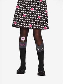 Černé holčičí punčocháče s motivem kočky Penti Pretty Catty 30 DEN
