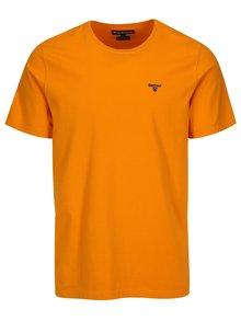 Tricou tailored fit oranj cu logo brodat - Barbour Sports Tee