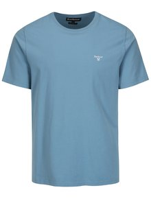 Tricou tailored fit bleu cu logo brodat - Barbour Sports Tee