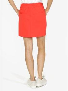 Červená sukňa s elastickým pásom VERO MODA Eva