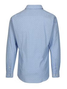Camasa tailored fit bleu cu print buline - Barbour Owen