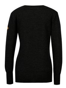 Tmavě šedý dámský svetr z Merino vlny Kama