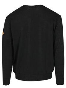 Čierny pánsky sveter s véčkovým výstrihom Kama