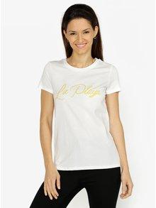 Krémové tričko s výšivkou VERO MODA Lola