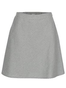 Sivá pruhovaná sukňa VILA Delina