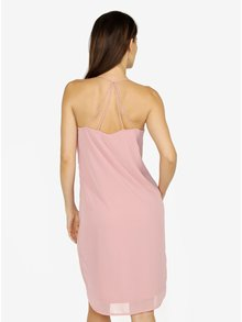 Růžové šaty na ramínka VERO MODA Diana