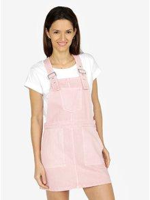 Rochie sarafan roz din denim VERO MODA Malou