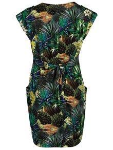 Tmavozelené šaty s kvetinovým vzorom La Lemon