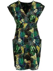 Rochie verde inchis cu print tropical La Lemon