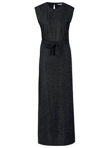 Rochie maxi bleumarin cu aspect stralucitor - VILA Lejana