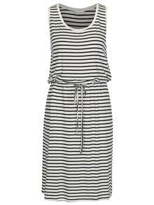 Modro-krémové pruhované šaty VILA Fi