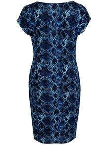 Tmavomodré puzdrové šaty s hadím vzorom La Lemon