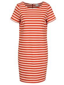 Krémovo-červené šaty s krátkym rukávom VILA Tinny