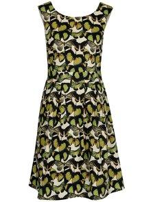 Rochie verde cu fluturi si pliseuri - Smashed Lemon