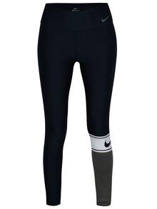 Sivo-modré dámske funkčné legíny Nike Power Training Tights