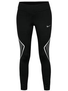 Čierne dámske skrátené funkčné legíny Nike Tght Fast Gx