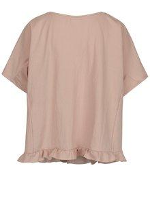Tricou roz prafuit oversized VILA Rose