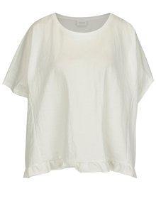 Krémové oversize tričko VILA Rose