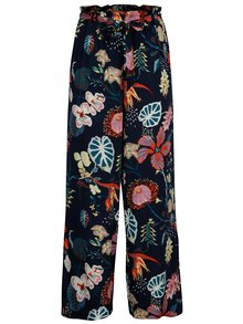 Pantaloni culottes bleumarin cu print floral - VILA Esto