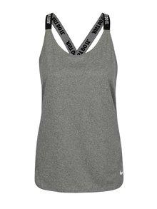 Sivé melírované dámske funkčné tielko Nike Dry Tank Elastka