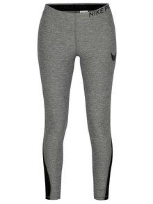 Sivé melírované dámske funkčné legíny Nike Training Tights