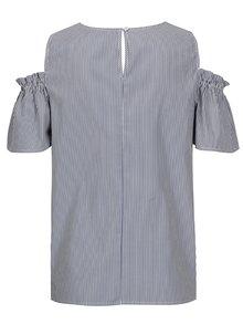 Bluza albastra in dungi cu broderie Dorothy Perkins