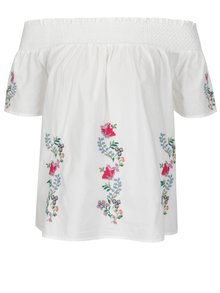 Bluza alba cu broderie florala Dorothy Perkins