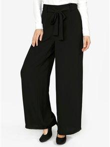 Pantaloni culottes bleumarin cu cordon in talie  VERO MODA Mita
