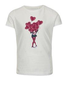 Biele dievčenské tričko s potlačou name it Veen