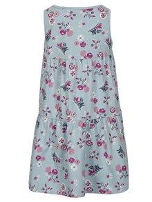 Modré dievčenské vzorované šaty bez rukávov name it Viga
